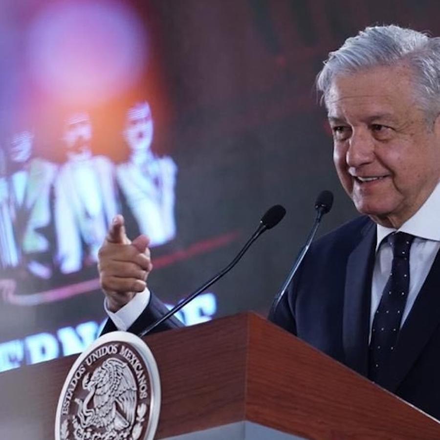 Presidente de México, Andrés Manuel López Obrador, en una imagen de una de sus ruedas de prensa matinales