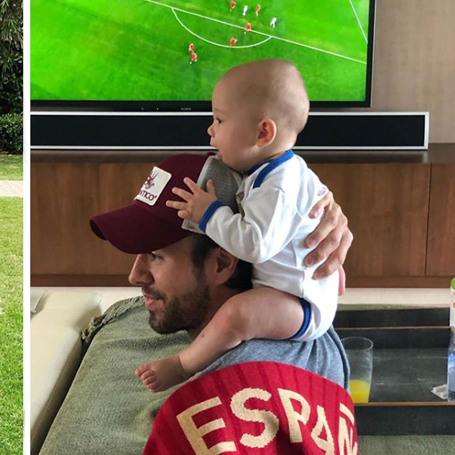 Enrique Iglesias derrite las redes sociales con sus mellizos.