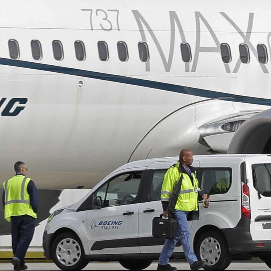 Imagen de archivo de un avión Boeing 737 MAX