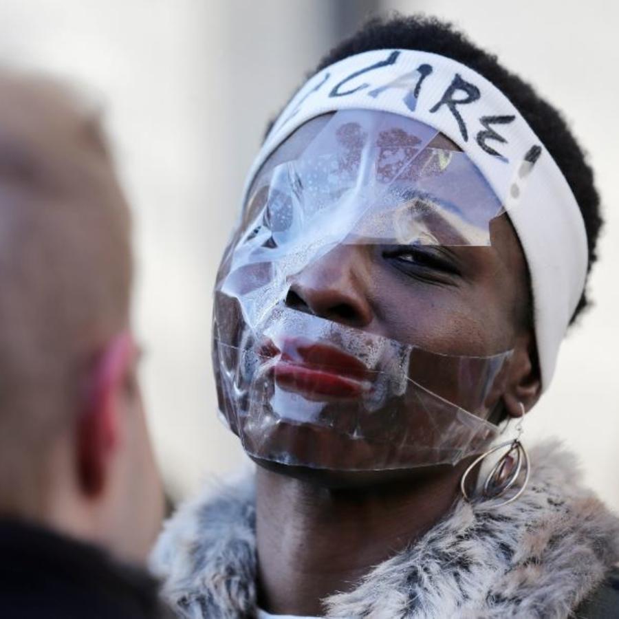 Therese Patricia Okoumou, de 45 años, este martes en un tribunal en Nueva York.