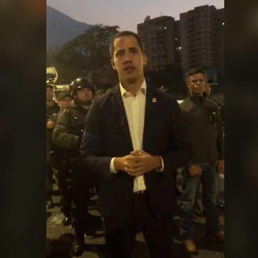 Juan Guaidó, este martes. en un mensaje difundio en Twitter.
