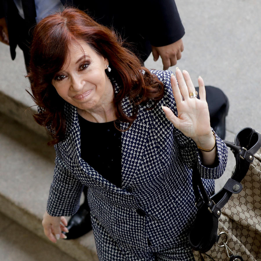 Expresidenta de Argentina Cristina Fernández esta semana en Buenos Aires