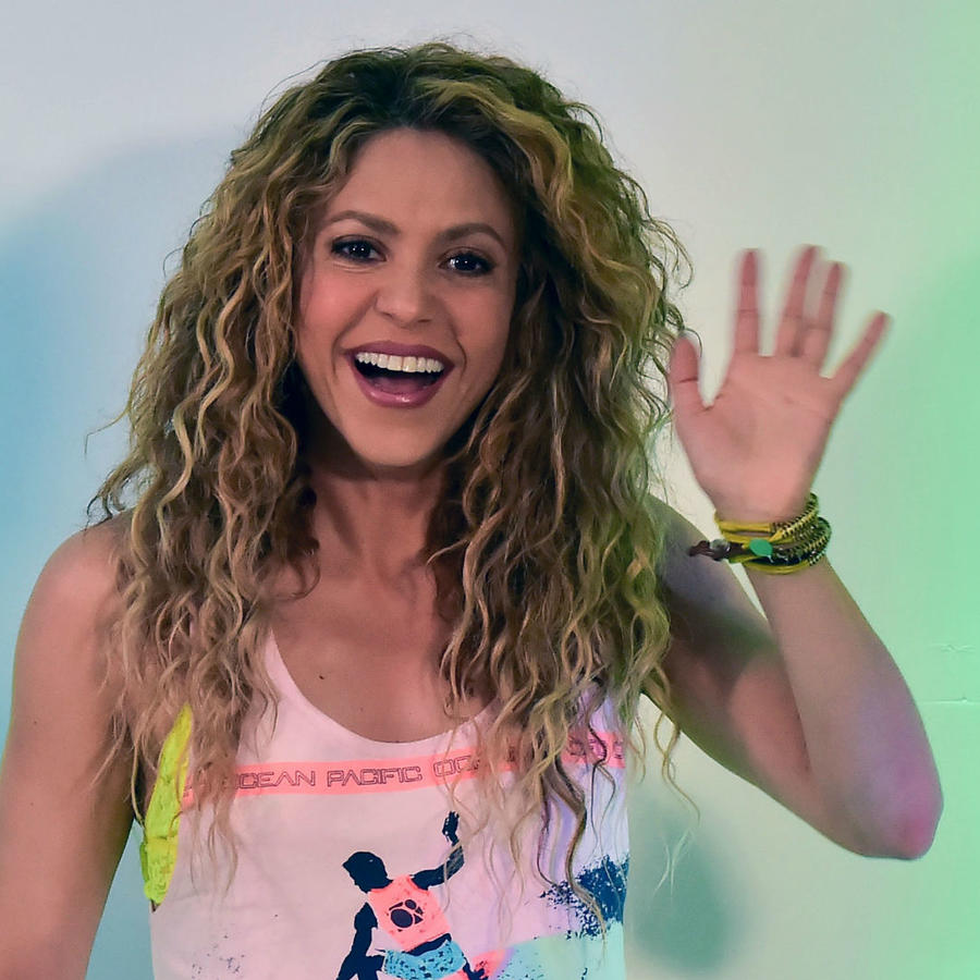 Shakira en conferencia de prensa de los Central American and Caribbean Games 2018
