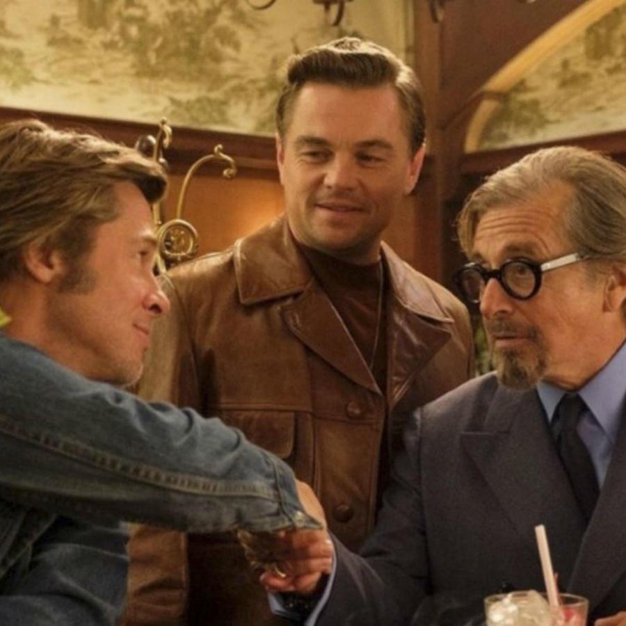 """Brad Pitt, Leonardo Di Caprio y Al Pacino en """"Once Upon a Time in Hollywood"""""""