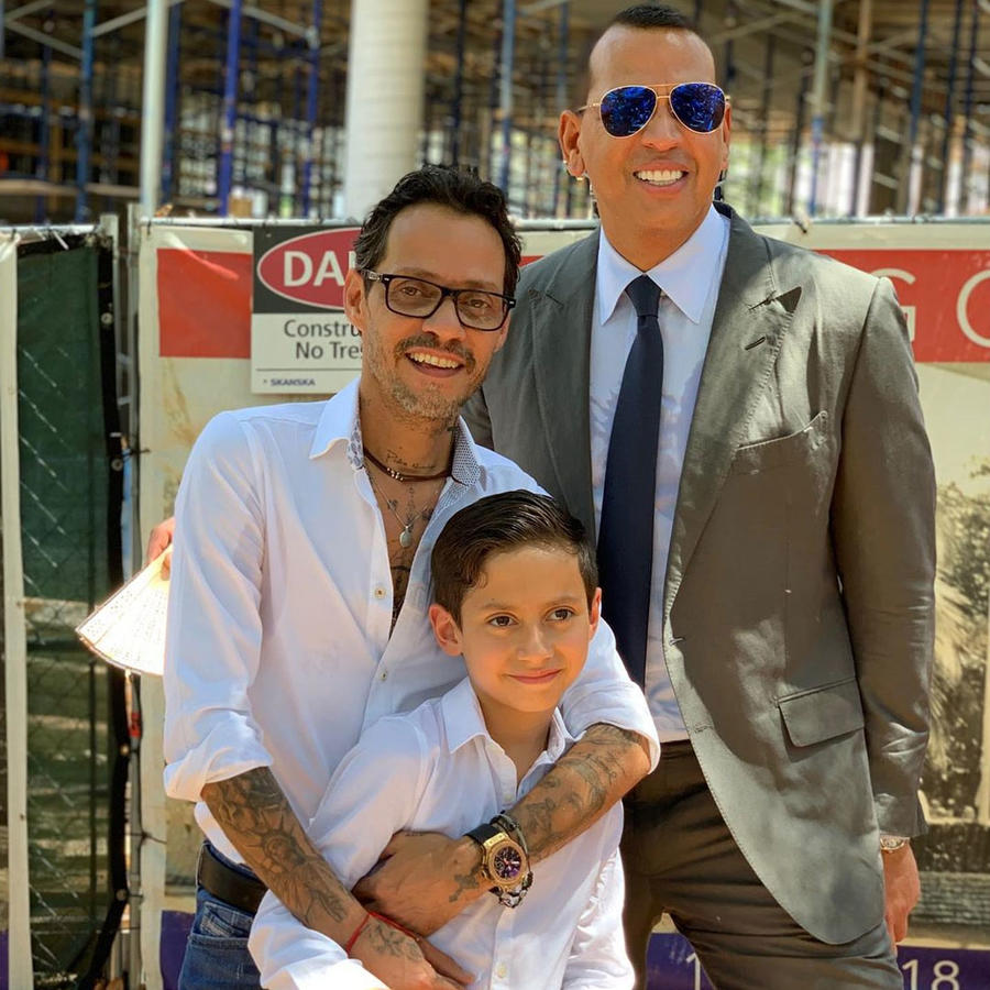 Marc Anthony y Alex Rodriguez