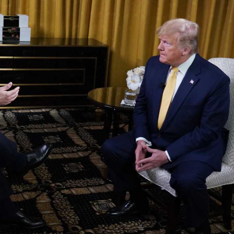 El presidente Trump en entrevista de José Díaz-Balart de Noticias Telemundo