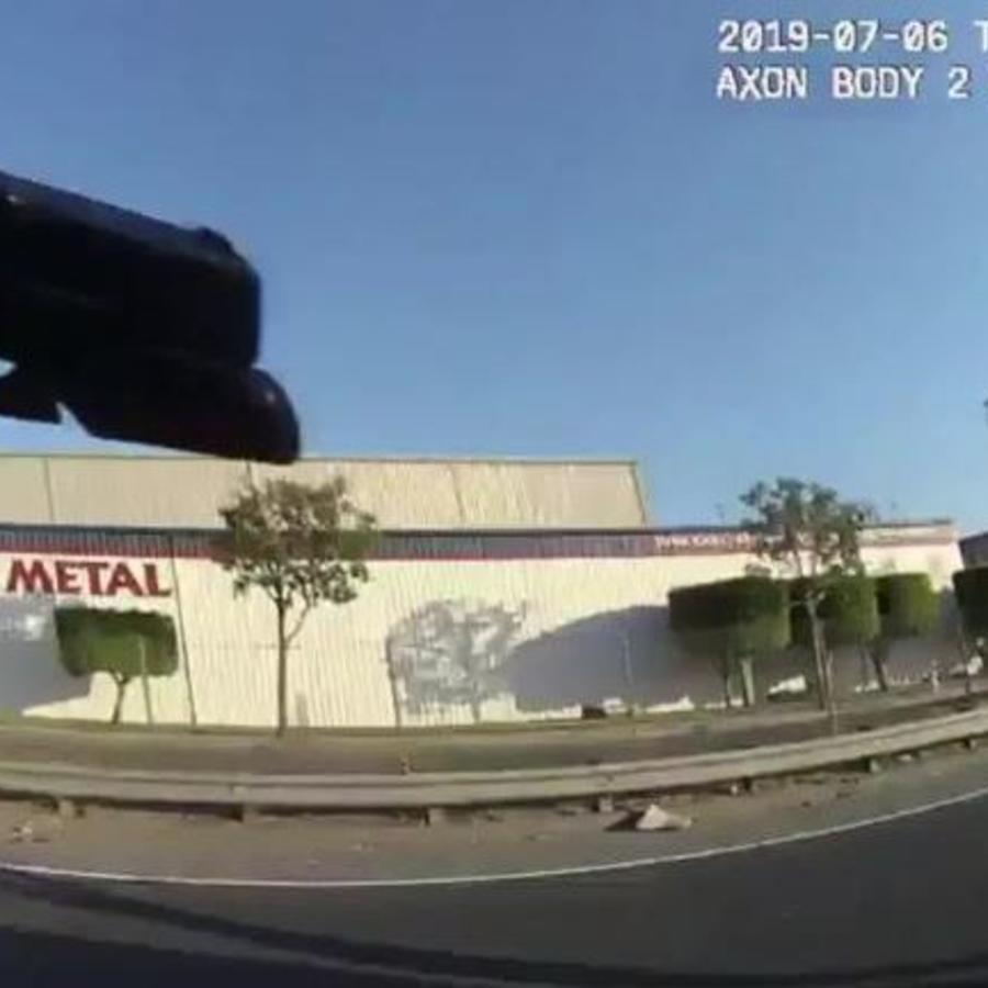 Captura del vídeo difundido por la policía de Fullerton.