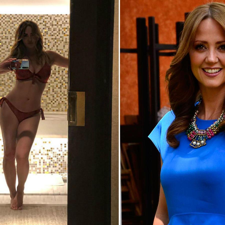 Andrea Legarreta posa en bikini y sonríe empoderada