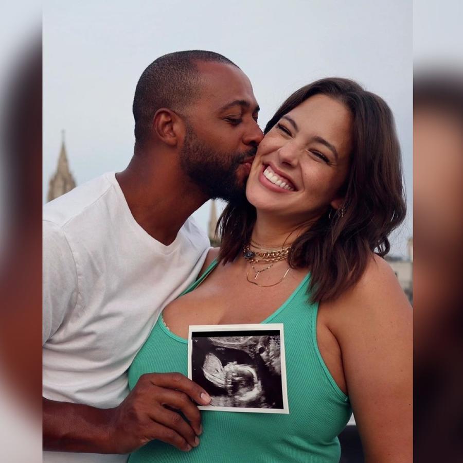 Ashley Graham y Justin Ervin esperan a su primer hijo