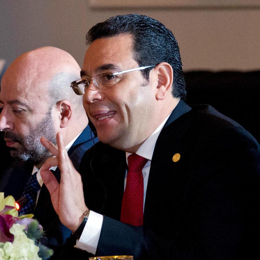 Presidente de Guatemala, Jimmy Morales, en una reunión en una imagen de archivo