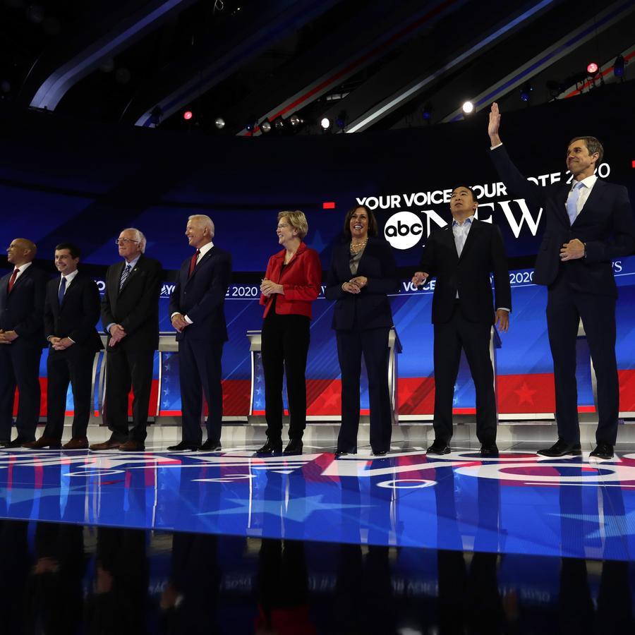 Los 10 aspirantes presidenciales del tercer debate demócrata