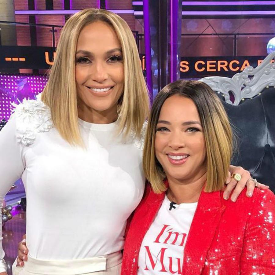 """Adamari López y Jennifer Lopez en """"Un Nuevo Día"""""""