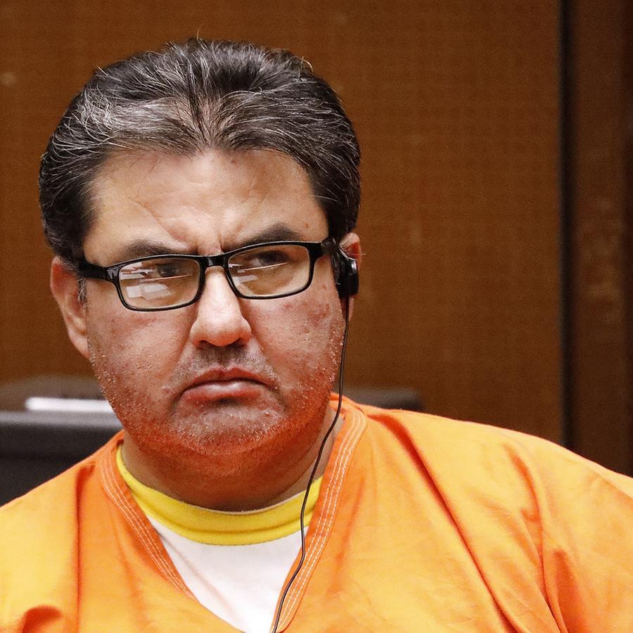 Joaquín Naason García, líder de la iglesia La luz del mundo, en una corte de Los Ángeles, donde se le acusa de delitos por presuntos abusos sexuales