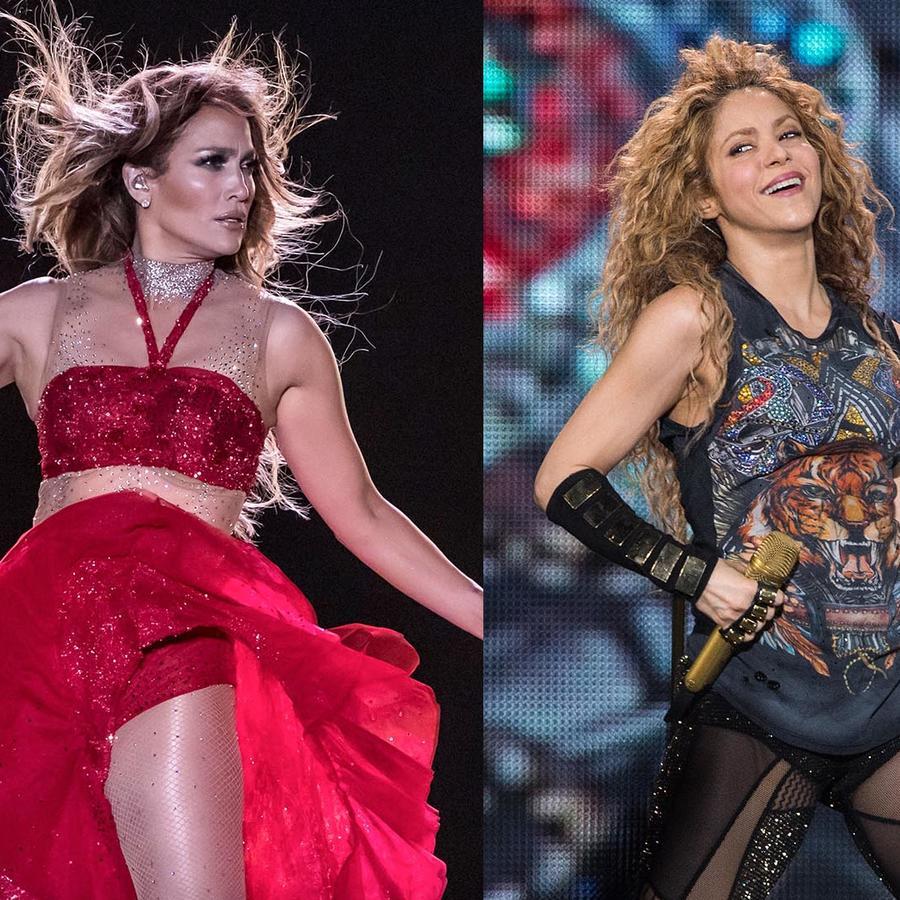 Jennifer lopez y shakira en conciertos
