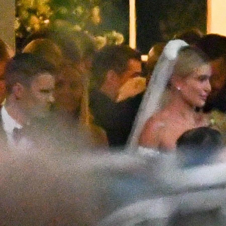 Justin y Hailey Bieber en el día de su boda