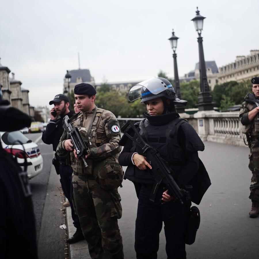 Imagen de la policía en París el 3 de octubre de 2019.