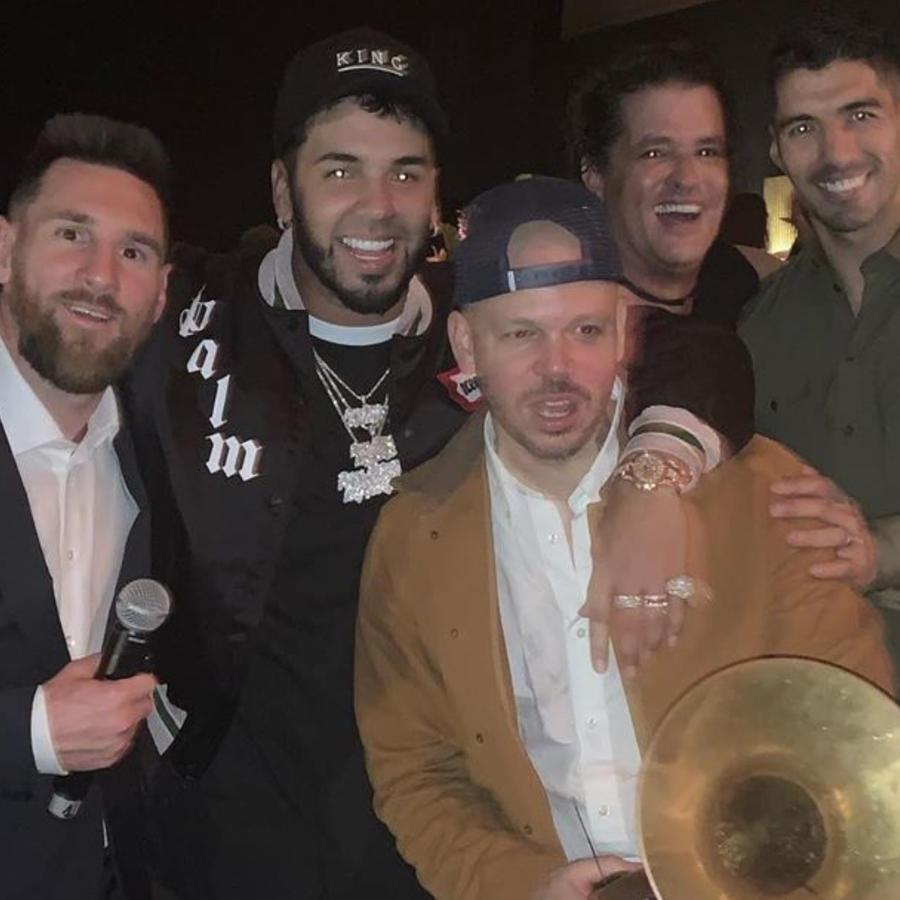 Anuel AA, Lioner Messi, Residente, Carlos Vives y Luis Suárez