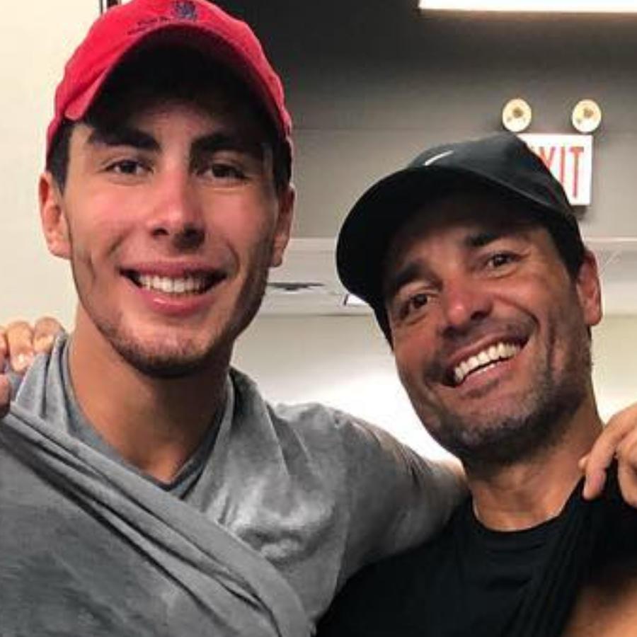 Chayanne y su hijo Lorenzo Figueroa