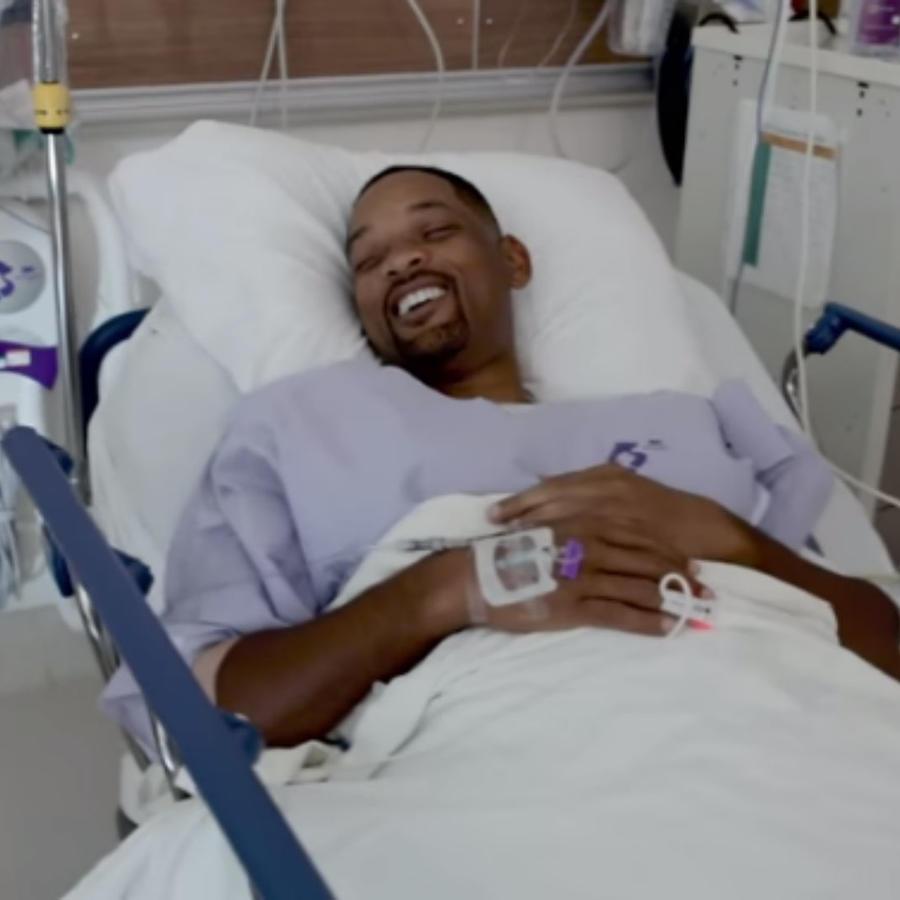 Will Smith en el hospital, para su colonoscopía