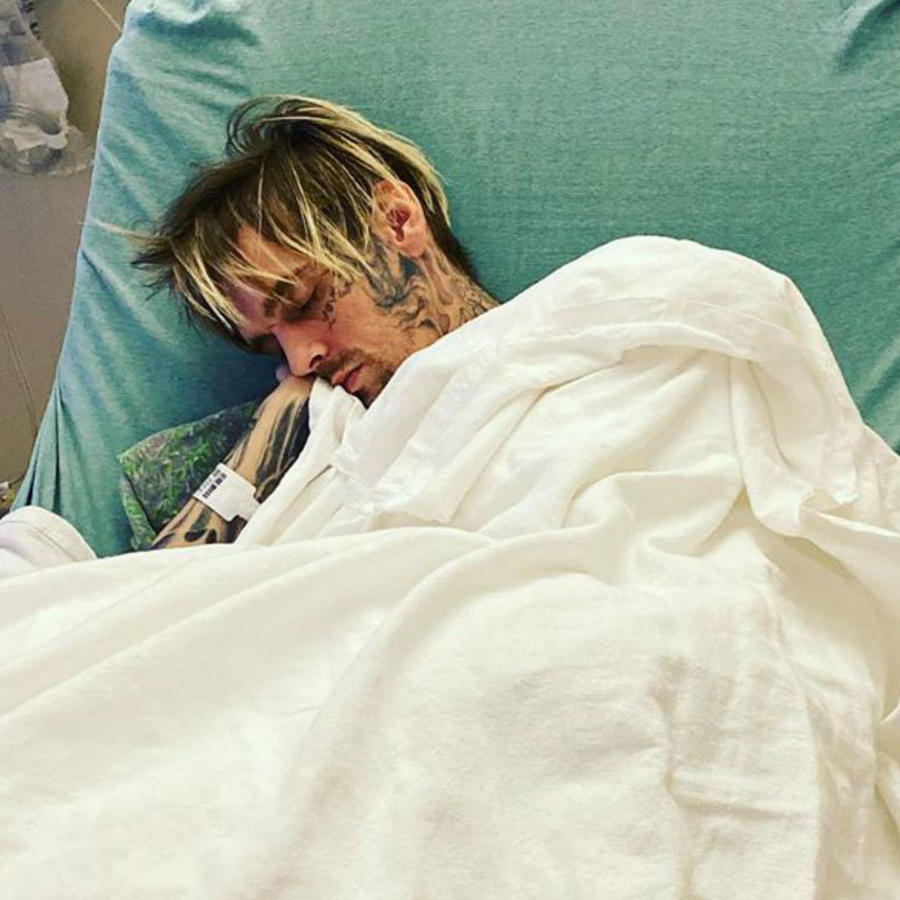 Aaron Carter en el hospital