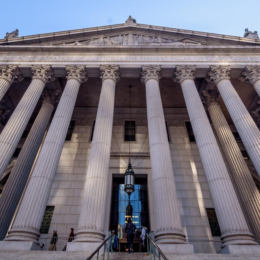 Fotografía de archivo de la corte de Manhattan, Nueva York.