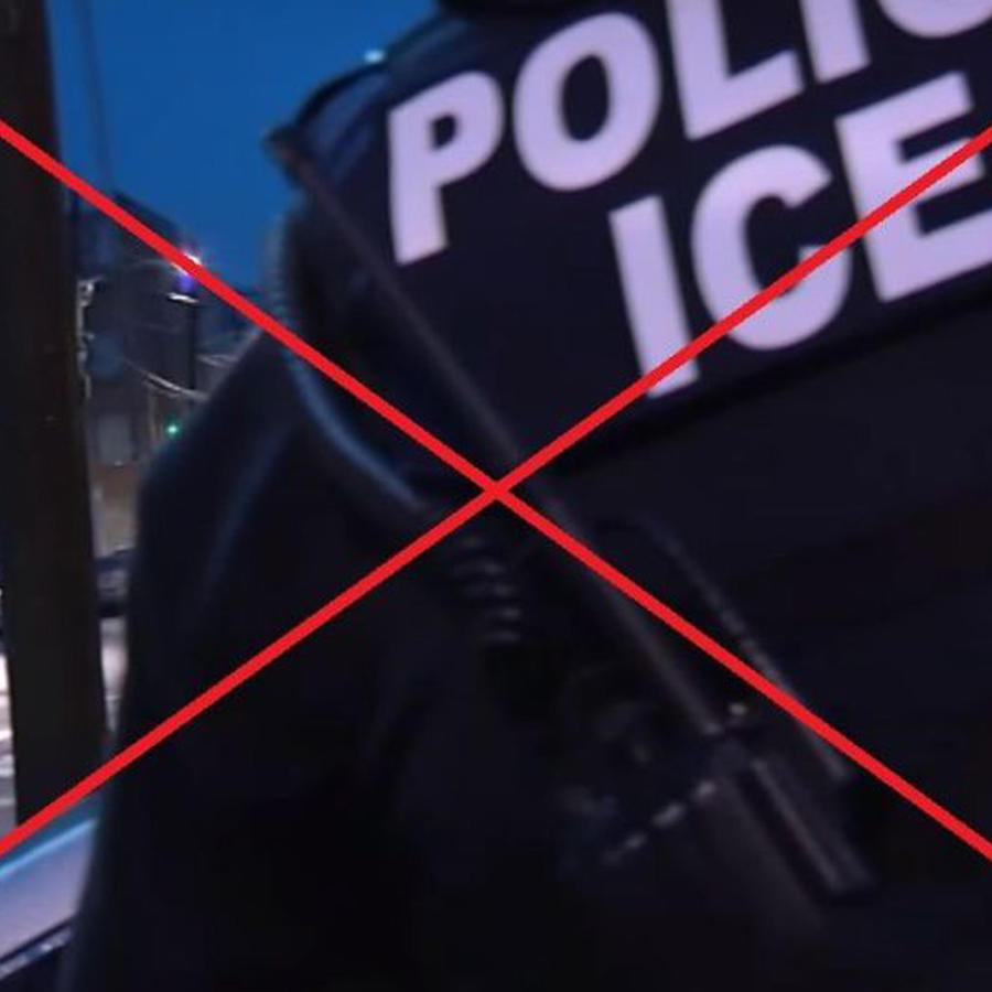 Un agente de ICE en una imagen de archivo.
