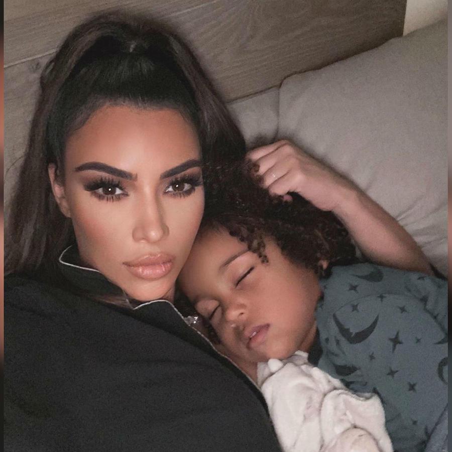 Kim Kardashian con Saint West