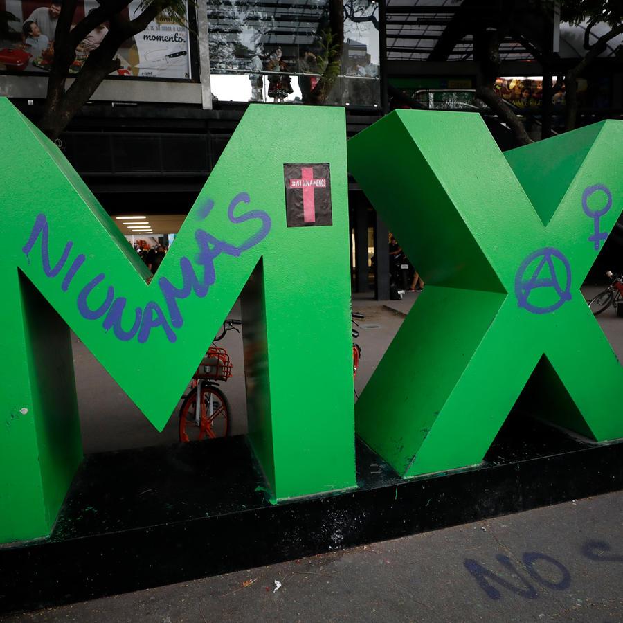 Manifestación contra asesinato de mujeres en México en una imagen de archivo.