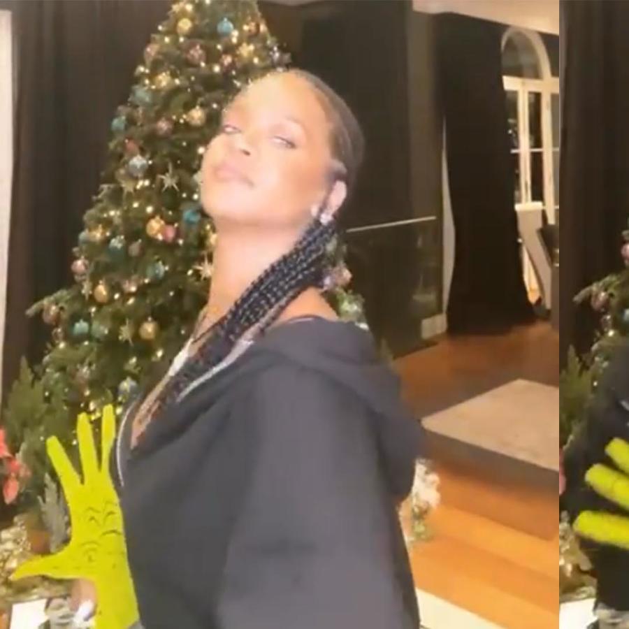 Rihanna bailando suavemente
