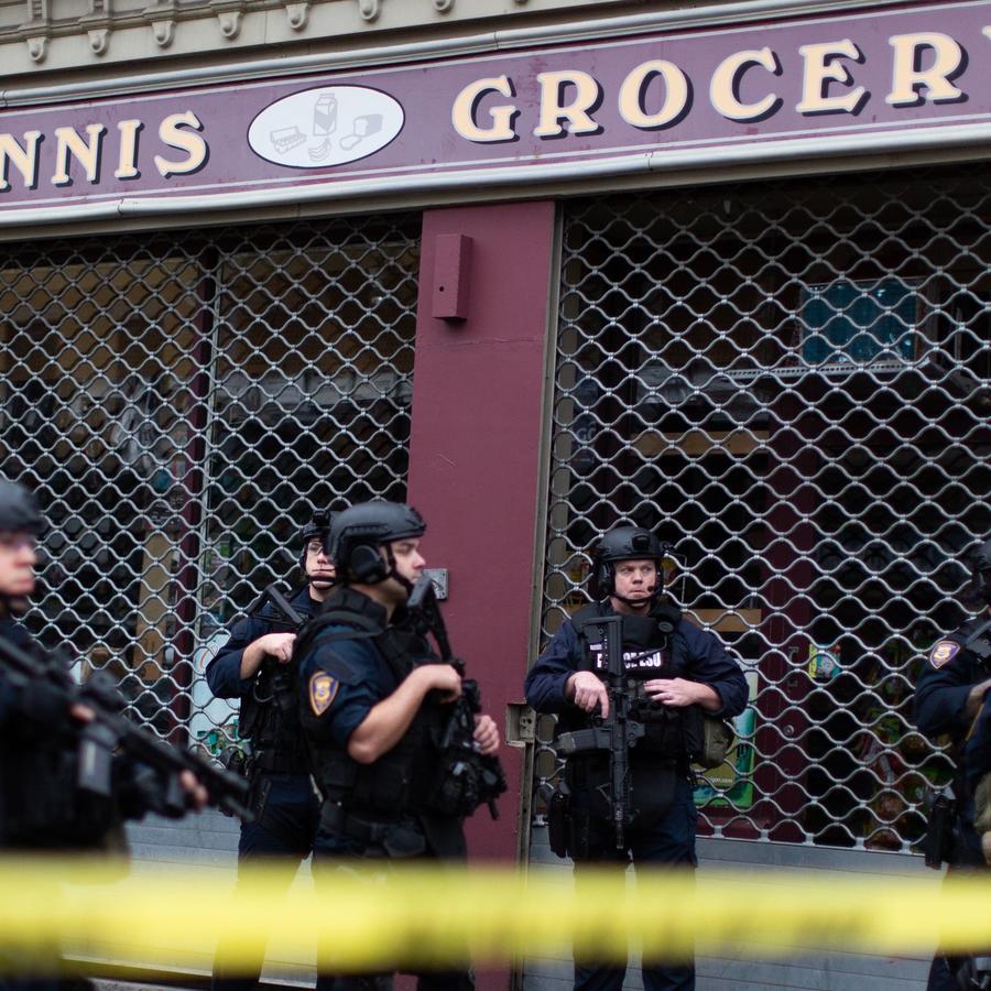 Fotografía del supermercado kosher en Jersey City donde una pareja abrió fuego