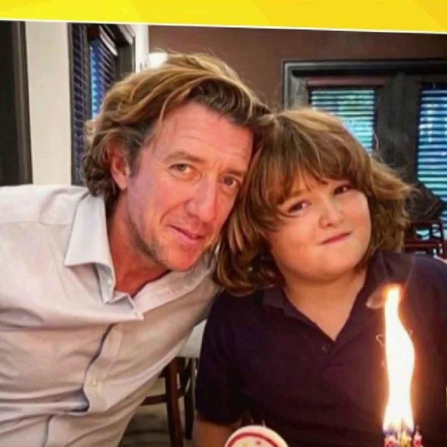 Colate con su hijo, Nicolás