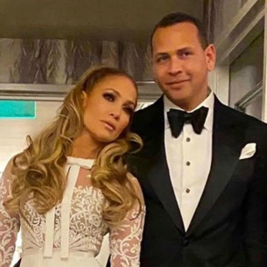 Jennifer Lopez con Alex Rodriguez en after-party de Golden Globes 2020