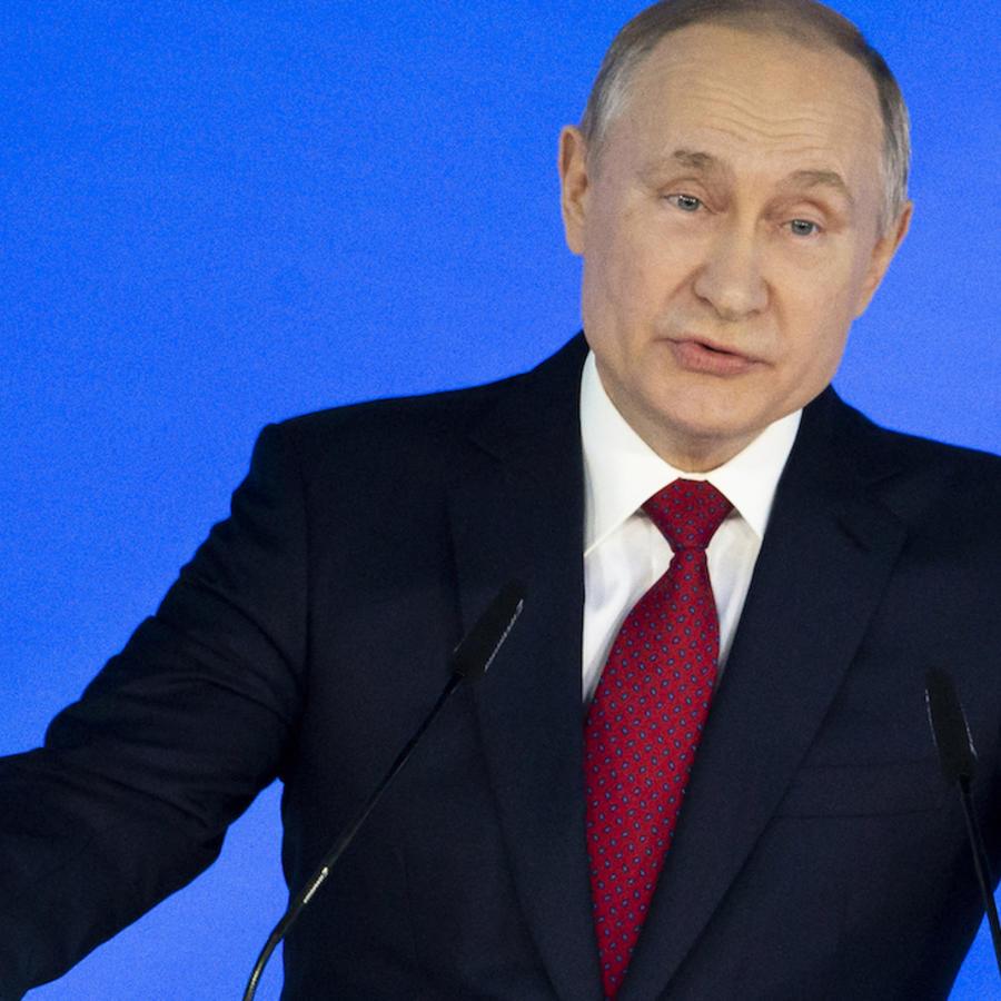Putin, durante su discurso ante el Consejo de Estado de Moscú.