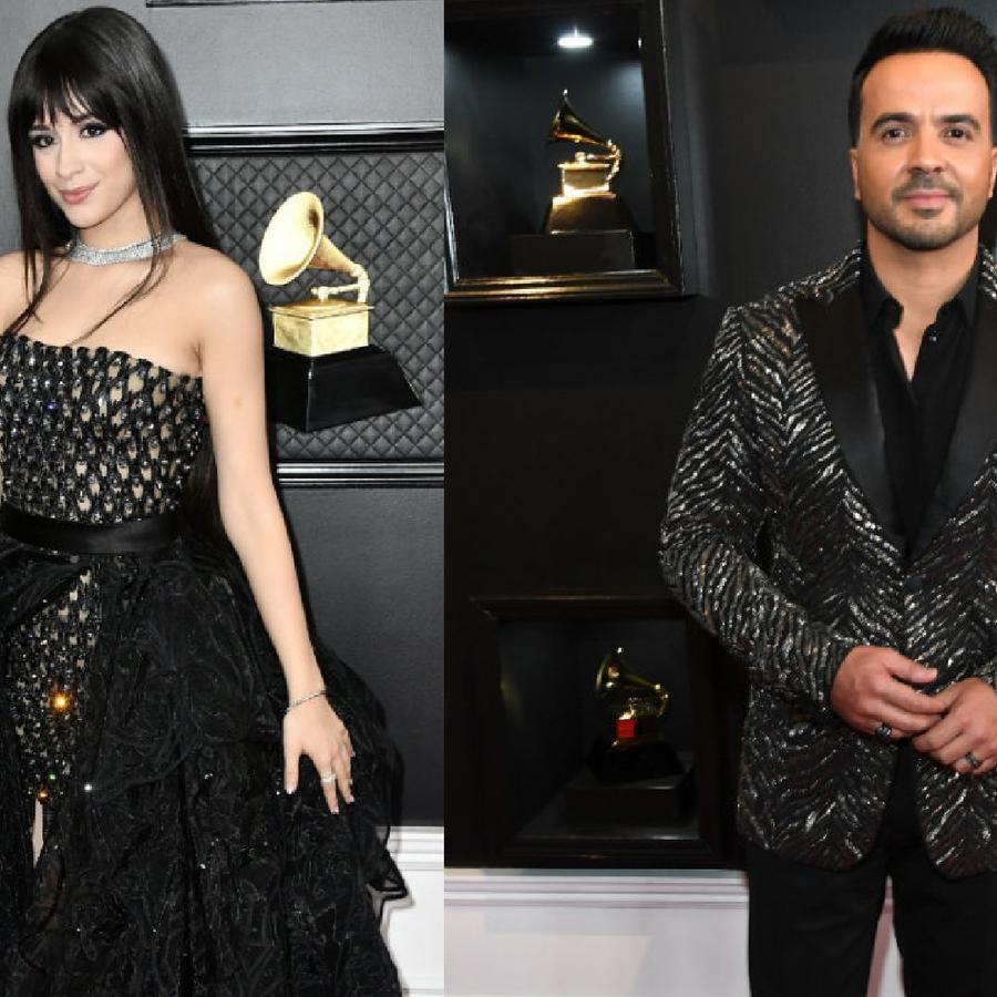 Camila Cabello y Luis Fonsi en los Grammys 2020