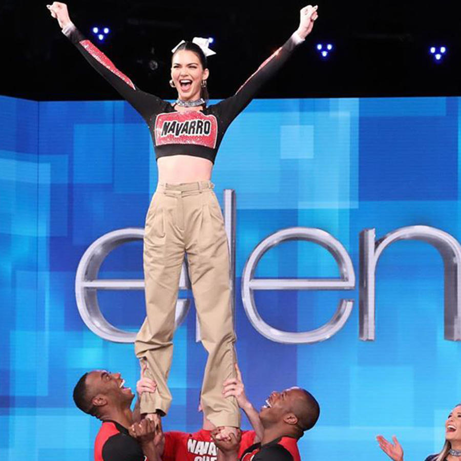 """Watch Kendall Jenner Do a Stunt with Netflix's """"Cheer"""" Cast"""