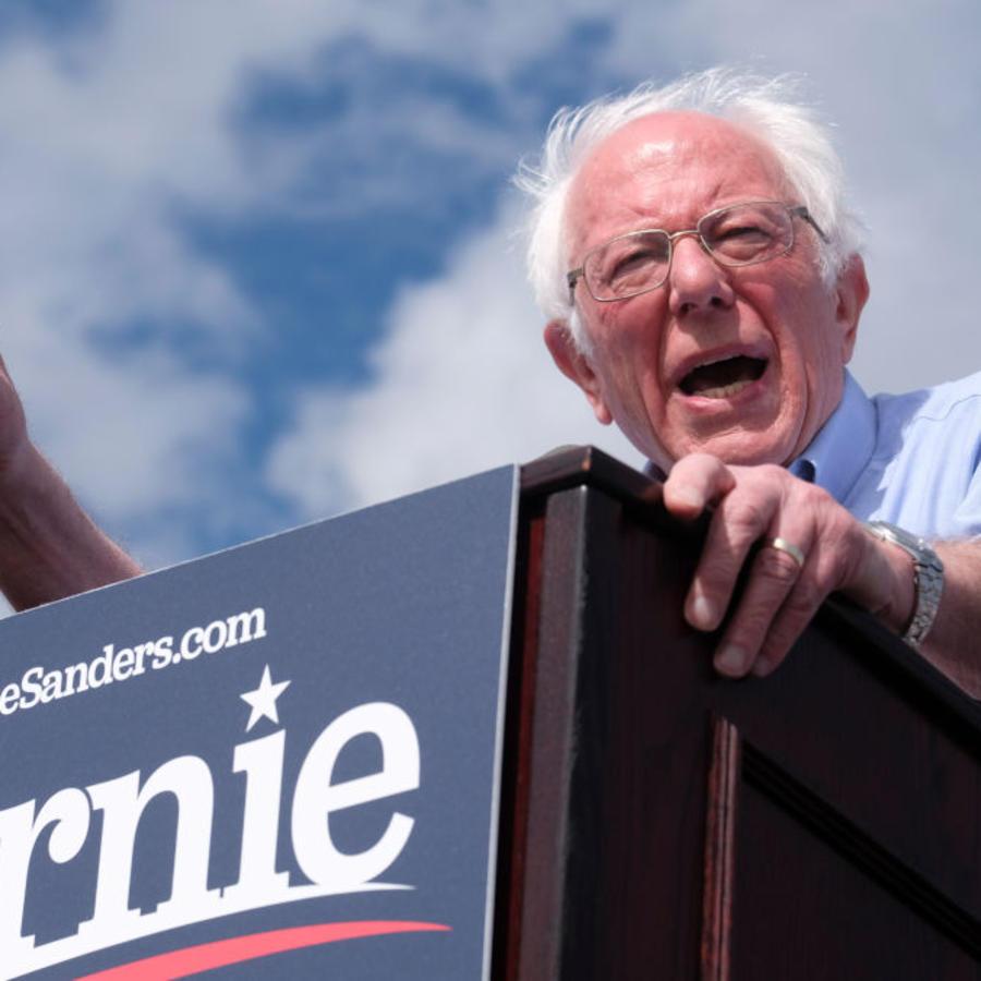 Bernie Sanders en California este viernes