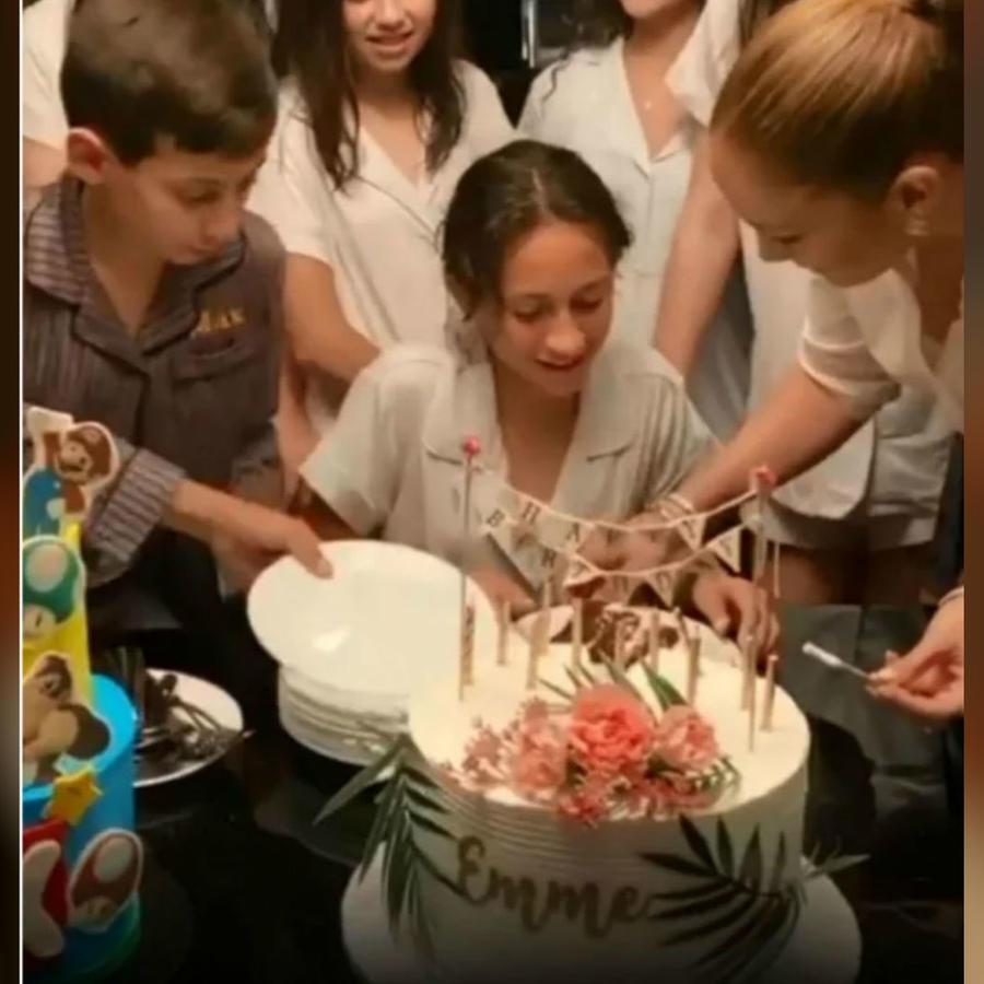 Jennifer Lopez con sus hijos
