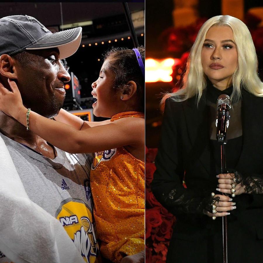 Kobe Bryant con su hija Gianna; Christina Aguilera; Michael Jordan