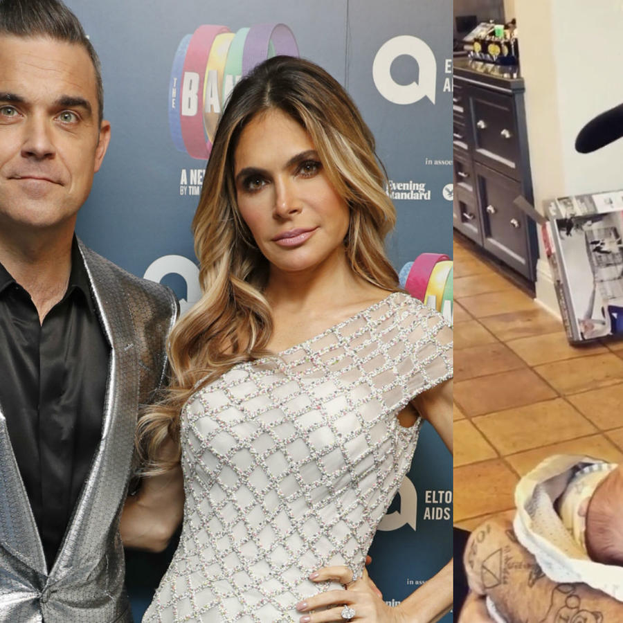 Robbie Williams y Ayda Field