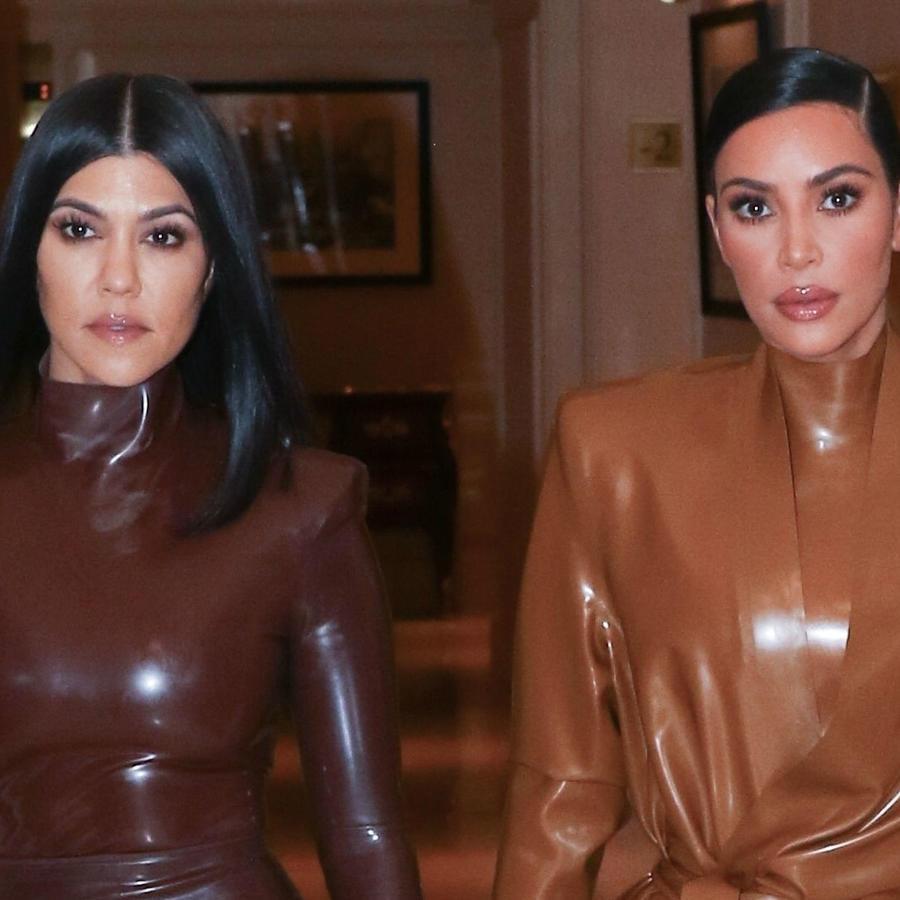 Kim y Kourtney Kardashian en París