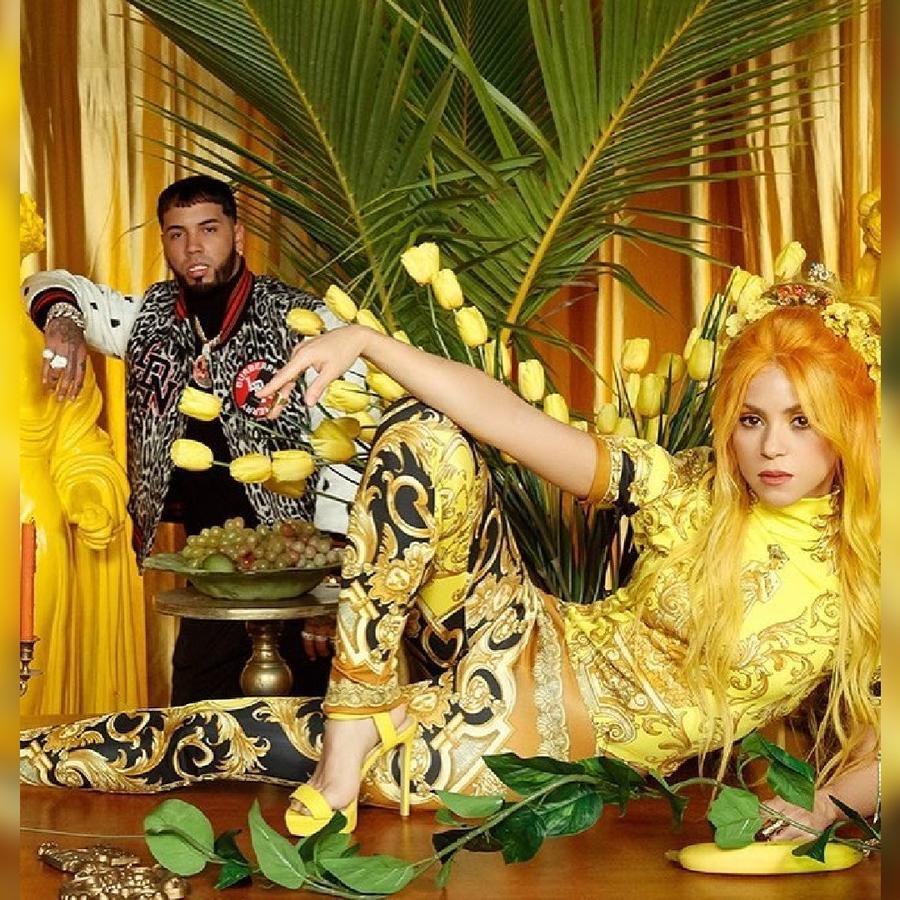 """Shakira y Anuel AA grabando el video de """"Me gusta"""""""