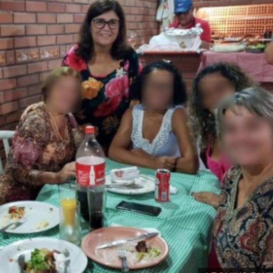 Vera Lúcia Pereira y su familia