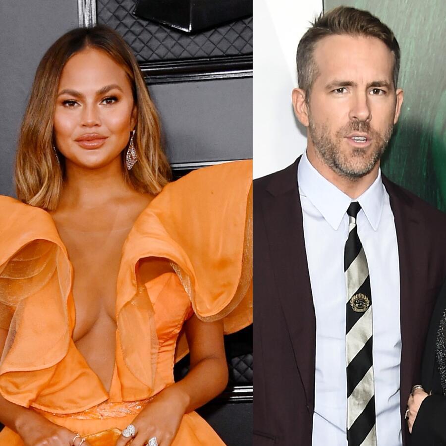 Chrissy Teigen, Ryan Reynolds, Blake Lively