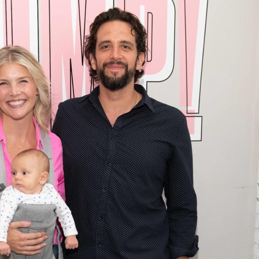 Amanda Kloots con Nick Cordero y su hijo Elvis