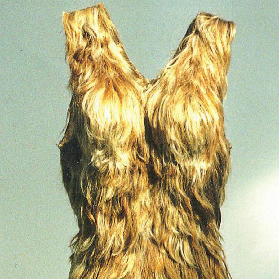 Vestido hecho de cabello
