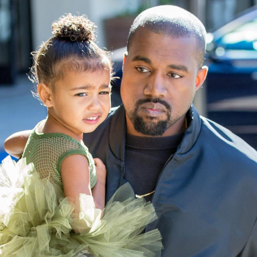 Kanye West con North West