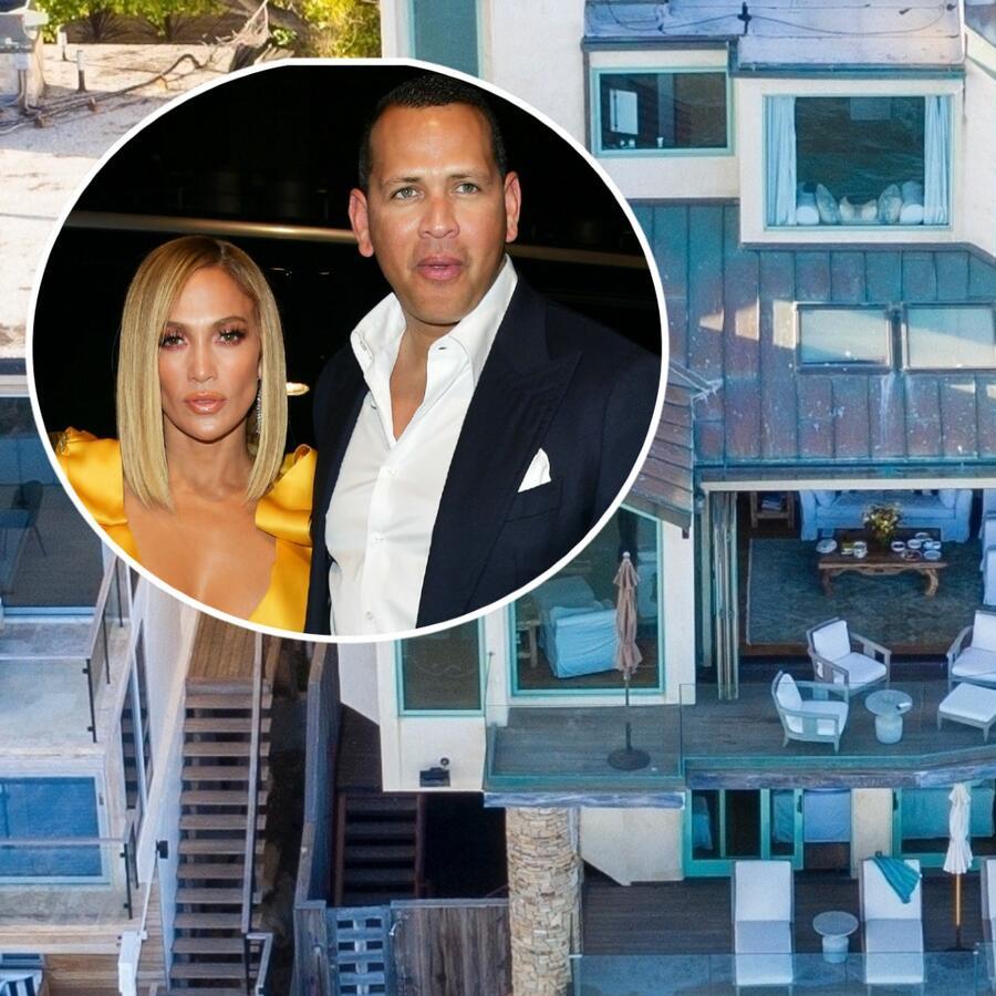 Jennifer Lopez y Alex Rodriguez casa de playa