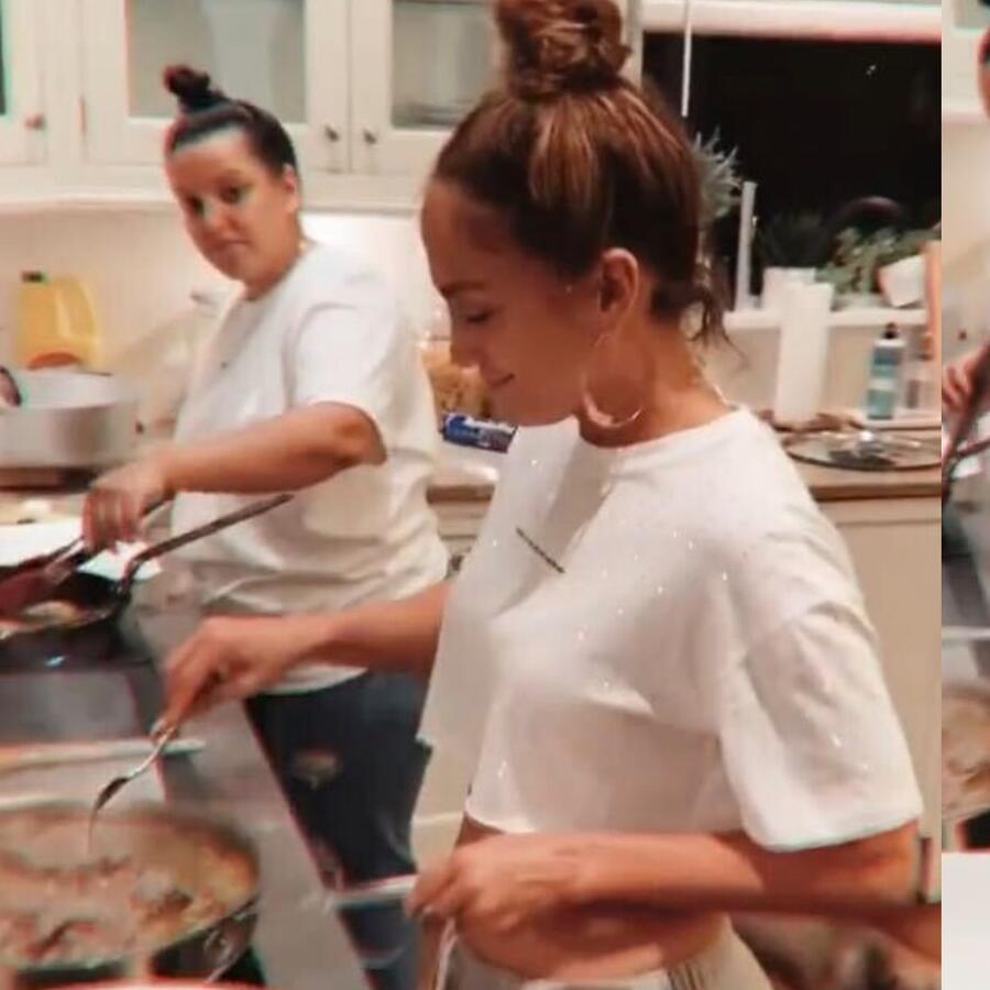 Jennifer Lopez baila en la cocina