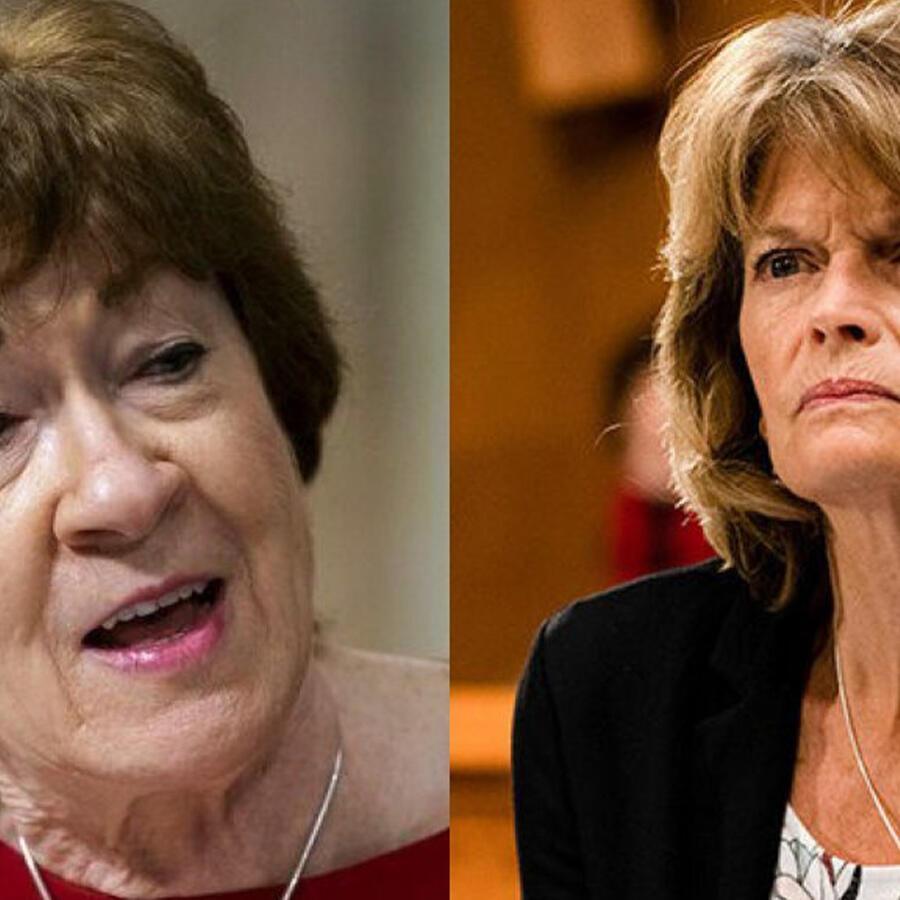 La senadora por Maine Susan Collins y la senadora por Alaska Liza Murkowski.