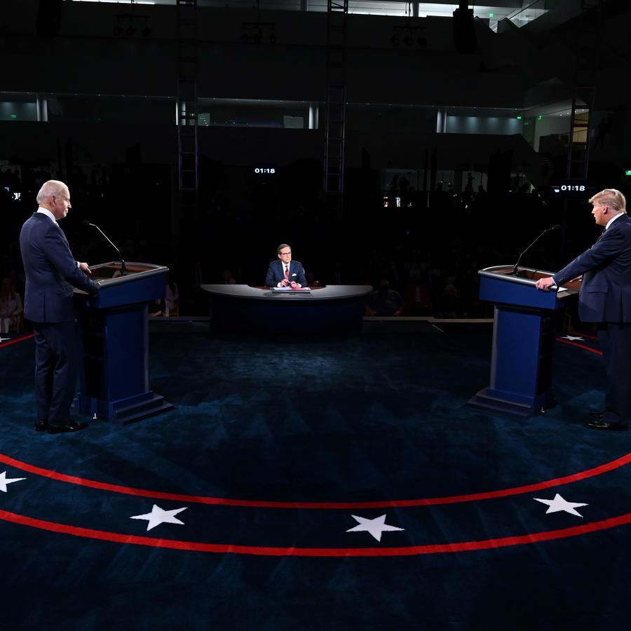 Biden y Trump en Cleveland, Ohio